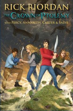 Cover Reveal: The Crown of Ptolemy (Percy Jackson & Kane Chronicles Crossover #3) by Rick Riordan -On sale May 12th 2015 by Disney-Hyperion -In their first encounter, demigod Percy Jackson and magician Carter Kane had to battle a giant crocodile on Long Island. A month later, Annabeth Chase ran into Carter's sister, Sadie, on the A train to Rockaway, where the pair fought a god named Serapis. Now trouble is brewing again, this time on Governor's Island.