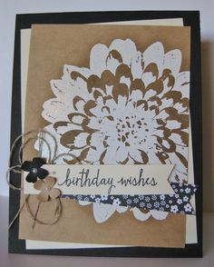 Stampin' Up! - SU - Definitely Dahlia and Build a Birthday stamp sets - a Mary Brown design (by Barb Mann)