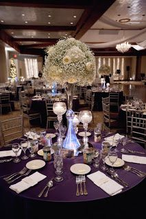 Add in a few roses or hydrangeas but keep the majority of the bouquet baby's breath. Cheaper option for a centerpiece and still looks stunning!