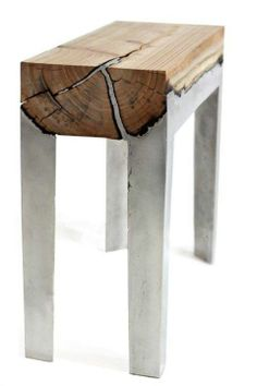 wood concrete table!