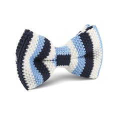 Three Shades of Blue Knitted Bow Tie |   Men's Suit Knitted Bow Tie for Men | Mens Wedding Knit Bow Tie Normal Knits Bow Tie Width Handmade Gentlemen Accessories for Guys | Buy Knitted Bow Tie Online Shop Australia | Knitted Bow Tie Men's Fashions | OTAA