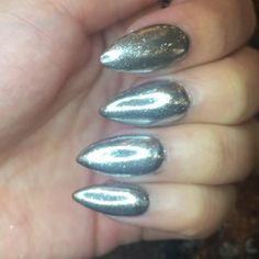 In love with my chrome claws 😳❤️🔥 thanks @thenailhub ❤️❤️❤️#claws #teamvalentino #nailaddict #nails #nailfie #nailart #nails2inspire #nailstagram #nailswag #nailsoftheday #gel #gelnails #manicure #vetro #nailartist #nailartclub  #edgy #nailporn #nailtech #naildesign #miaminails  #tmblrfeature  #vegas_nay #charlottenails #charlottenailtech #charlotte #southend #stilettonails #uptown #chromenails