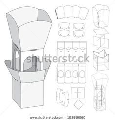 Assembly Floor Display and Die-cut Pattern
