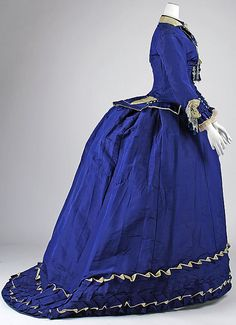 Afternoon dress Date: ca. 1874 Culture: French Medium: silk Accession Number: 1978.477.4a, b