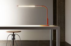 Minimalistic lamp with a USB connector