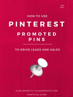 If you're looking to make the most of Pinterest's promoted pins advertising, you need this book! It pays for itself in no time. 61 pages, with examples and a step-by-step, it's really all you need to know to succeed with promoted pins.