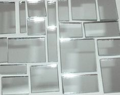 Silver Mirror Jumbled Mix from Mosaic Tile Mania makes a beautiful back splash for your kitchen or bathroom! Mirror Mosaic, Mirror Tiles, Glass Mosaic Tiles, Mosaic Art, Mosaic Tiles For Sale, Mirror Backsplash, Backsplash Ideas, Mirror Mirror, Cool Ideas