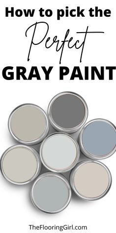 How to choose the perfect gray paints and accent wall for your home. Paint color selection made easy. #diy #decorating #painting #gray #greige #homedecor #graypaint #greycolor Greige Paint Colors, Neutral Paint Colors, Wall Paint Colors, Neutral Colour Palette, Diy Wall Painting, Interior Painting, Painting Tips, Repose Gray Paint, Shades Of Grey Paint