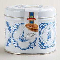 One of my favorite discoveries at WorldMarket.com: Daelmans Dutch Caramel Wafers Tin