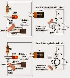 LED Torch light Circuit.