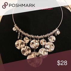 Premier Designs New Sensation necklace Excellent condition- worn one time Beautiful silver medallions. I just don't have anywhere to where it. It is a great night out on the town piece. Premier Designs Jewelry Necklaces