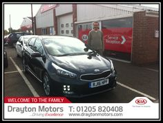 Mr Rusu collecting his Ceed GT Line from Adrian | by draytonkia