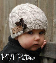 Tricot PATTERN-The Ella Hat bébé enfant taille par Thevelvetacorn