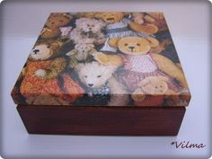 Your place to buy and sell all things handmade Decorative Accessories, Decorative Boxes, Decoupage Box, Personalised Box, Wooden Boxes, Jewelry Box, Presents, Felt, Teddy Bear