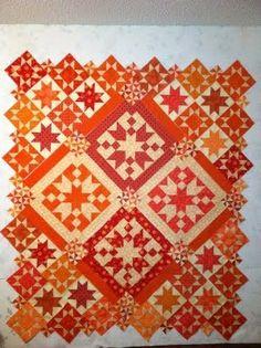 Orange STUNNING quilt- LOVE this!.