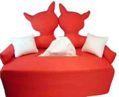 Kuschel Katzen  Taschentuchsofa  Couch Tissue Box von KleineSterne, €22,99