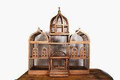 Vintage Victorian Bird Cage Large Wooden Bird by Vintassentials