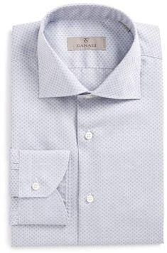 Canali Regular Fit Geometric Dress Shirt Mens Big And Tall Shirts, Collar Stays, Geometric Dress, Collars, Handsome, Nordstrom, Shirt Dress, Long Sleeve, Fitness