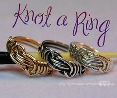 Jewelry Tutorial - Knot a Ring - All Wire Ring - PDF