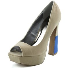 Save 10% + Free Shipping Offer * | Coupon Code: Pinterest10 Material: Man Made Velvet Material. Brand: Qupid Heel Height: 5 inches Heel, 1.5 inch platform (Approx) Must have for your perfect skinny jeans, or cocktail dress. Peep square Toe front, smooth velvet material, light padded insole for comfort. Women's Qupid Adel-14 Taupe Velvet Leather Square Toe Pumps