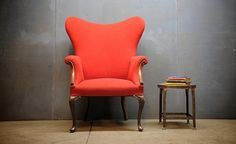 15 Antique Wingback Chairs in Plain Colors