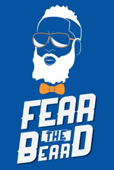New OKC Thunder James Harden Fear the Beard T-Shirt! I LOVE James Harden!!! Such a humble and graceful player.