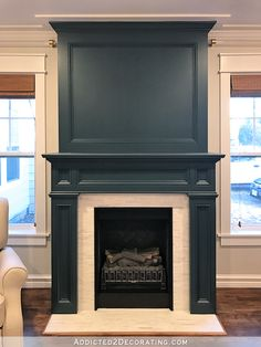 Best Absolutely Free Electric Fireplace makeover Concepts Fireplace Makeover (Plus My Paint Color Trial and Error) Painted Fireplace Mantels, Painted Mantle, Paint Fireplace, Shiplap Fireplace, Fireplace Hearth, Fireplace Remodel, Fireplace Surrounds, Fireplace Design, Black Fireplace Surround