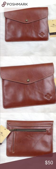 NWT Patricia Nash Italian Leather Clutch Will also fit iPad.  Italian Leather. Measures 10x 8. Patricia Nash Bags Clutches & Wristlets