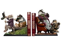 The Wind in the Willows Bookend Set - The Wind in the Willows Statues & Busts