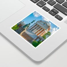 Virginia Charlottesville Campus Print Sticker