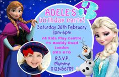 Personalised Disney Frozen Birthday Party Invitations #6