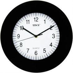 966b24b1a5b Relógio de Parede Yins YI15079 Preto 30cm - Megazim Relógio De Parede
