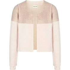 Reiss Wallis Foil Print Cardigan ($96) ❤ liked on Polyvore featuring tops, cardigans, outerwear, jackets, bronze, jackets and blazers, colorblock cardigan, long sleeve cardigan, pink crop top and metallic crop top