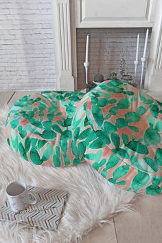 Jacqueline Maldonado Paddle Cactus Blush Floor Pillow Round | DENY Designs Home Accessories
