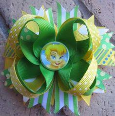 Tinkerbell Custom Boutique Disney Princess Hair Bow. $9.99, via Etsy.