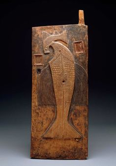 Africa | Door from the Baule people of Ivory Coast | Wood, metal and fiber | Late 19th to early 20th century