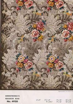 Vintage Floral Rugs   So they got a linoleum rug. Above: Yes, that's a linoleum rug ...