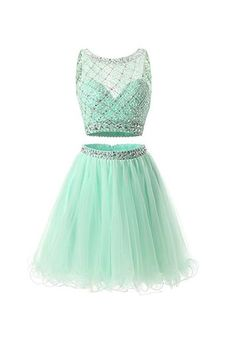 two pieces homecoming dresses, beaded homecoming dresses, A-line homecoming dresses, mint homecoming dresses, tulle homecoming dresses, short prom dresses, party dresses, cocktail dresses, graduation dresses#SIMIBridal #homecomingdresses