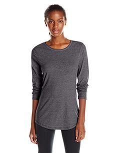 Hanes Women's Long Sleeve Tee, Slate Heather, X-Large - http://www.exercisejoy.com/hanes-womens-long-sleeve-tee-slate-heather-x-large/athletic-clothing/