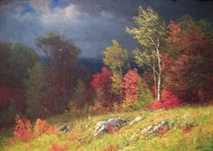 Albert Bierstadt (1830-1902), Autumn Birches (Approaching Storm) (c.1860), Portland Museum of Art, Maine