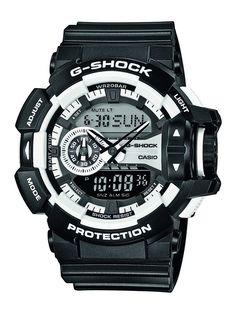 Casio G Shock GA-400-1AER G-Shock Uhr Watch Montre Orologio. - Brand name: Casio Watch - Sex: Man - Thong in rubber, color black - polycarbonate housing color black - Dial color black - Machinery: Quartz - Functions: digital - water Resistant: 20 atm pressure'n - box Dimensions: 51 mlm - Garantí.