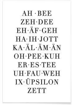 ABC of owl cut as a poster in a wooden frame Buy online on JUNIQE now! The Words, Learn German, Good To Know, Decir No, Quotations, Texts, Lyrics, Funny Quotes, Wisdom
