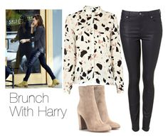 """""""Brunch with Harry"""" by sofia-kaae ❤ liked on Polyvore featuring SECOND FEMALE, Gianvito Rossi, women's clothing, women's fashion, women, female, woman, misses, juniors and OneDirection"""