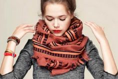 Blanket Scarves: Wrap Yourself in This Cozy Trend for Fall 2014: Wrap...and Keep Wrapping