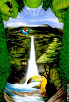 Amazing set of bodypainting art by Craig Tracy. Craig Tracy, Painting People, Woman Painting, Painting Art, Nova Orleans, Piercings, Full Body Paint, Art Français, Hyper Realistic Paintings