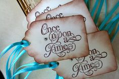 Fairytale Tiffanys Gift Tags Once Upon A Time Tiffany by FairestLJ, $5.95