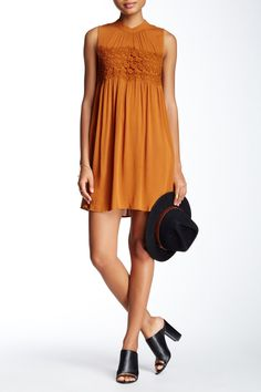 LIVING DOLL - Solid Woven Crochet Front Dress at Nordstrom Rack. Free Shipping on orders over $100.
