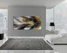 Large Wall Art ABSTRACT PAINTING Oil Wall Decor par largeartwork