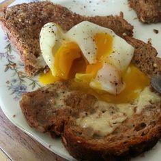 Microwave poached egg. So quick and easy and so good!  #instafood #egg #breakfast #toast