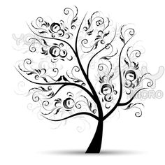 tattoo ideas...........Image detail for -Royalty Free Vector of Art Tree Beautiful, Black Silhouette